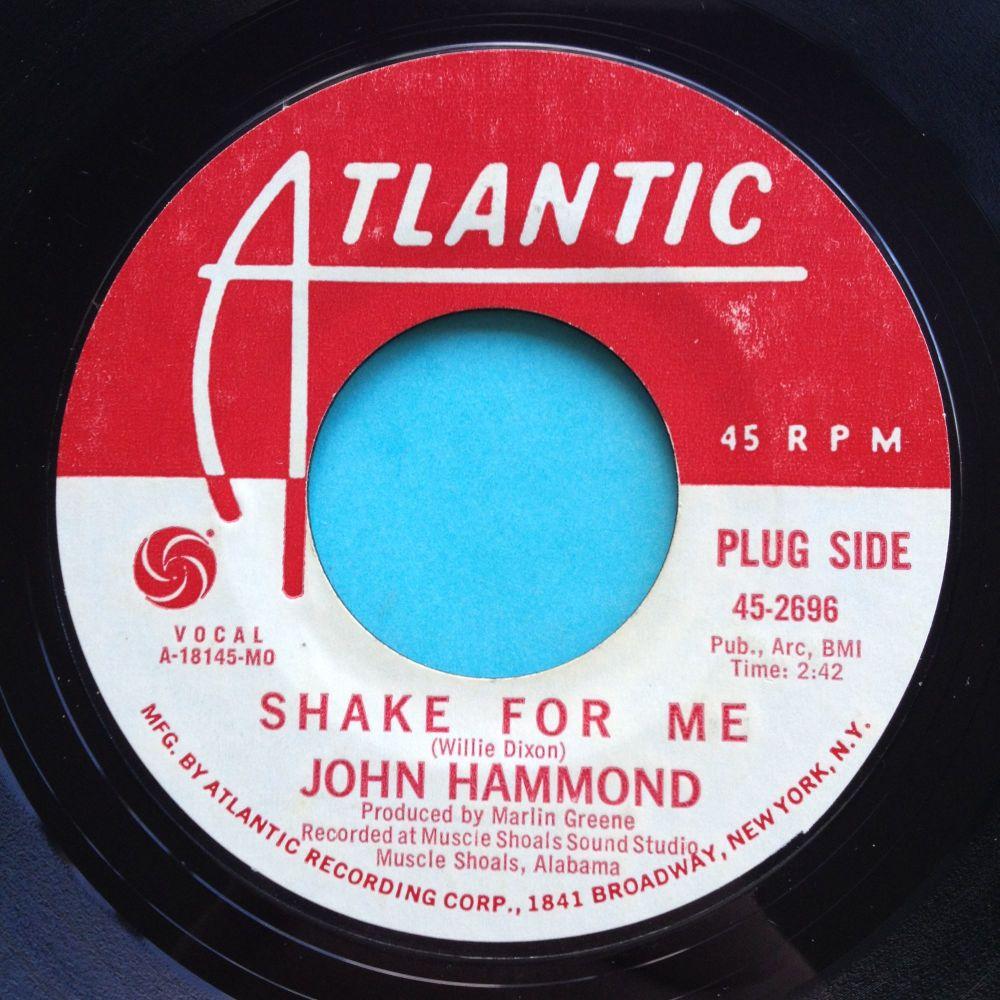 John Hammond - Shake for me - Atlantic promo - Ex