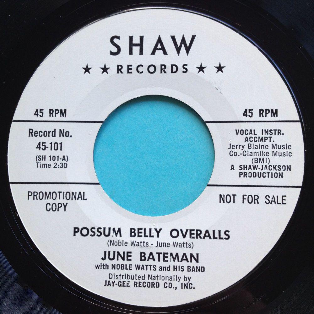 June Bateman - Possum Belly Overalls - Shaw promo - Ex