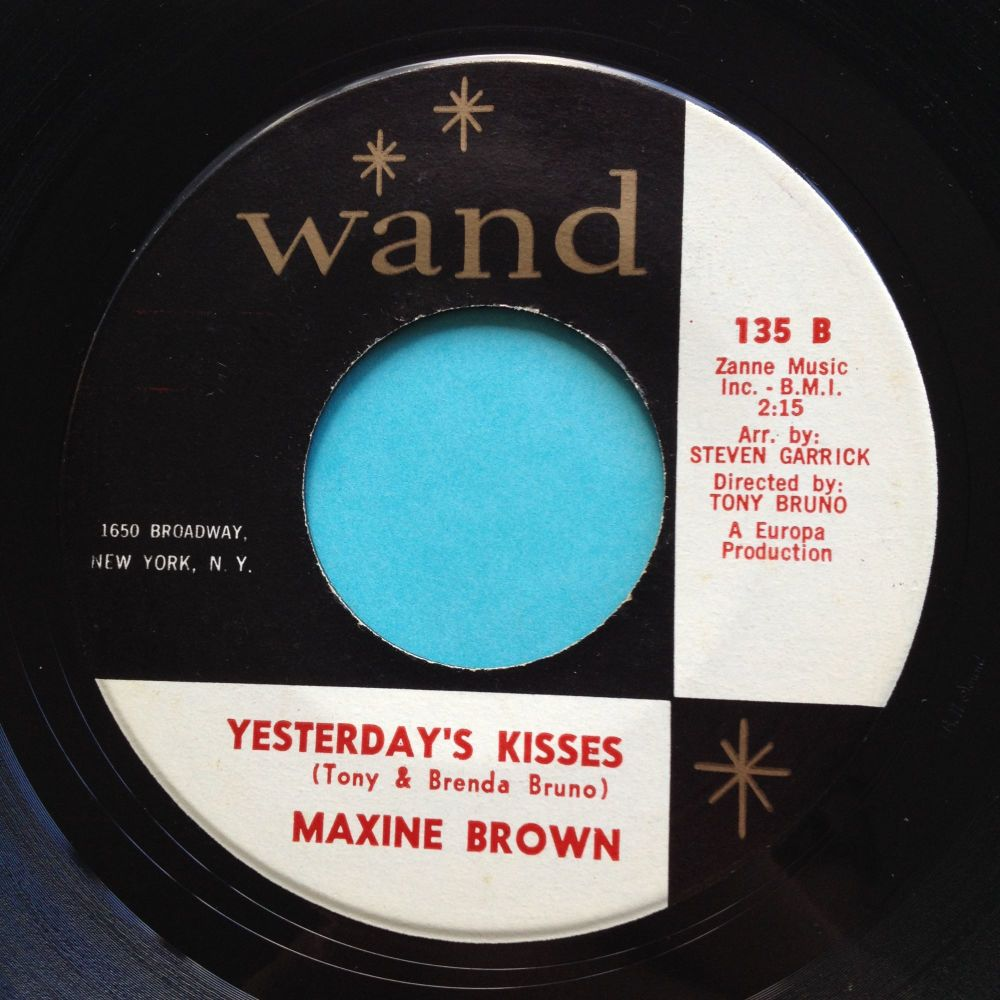 Maxine Brown - Yesterdays kisses - Wand - Ex-