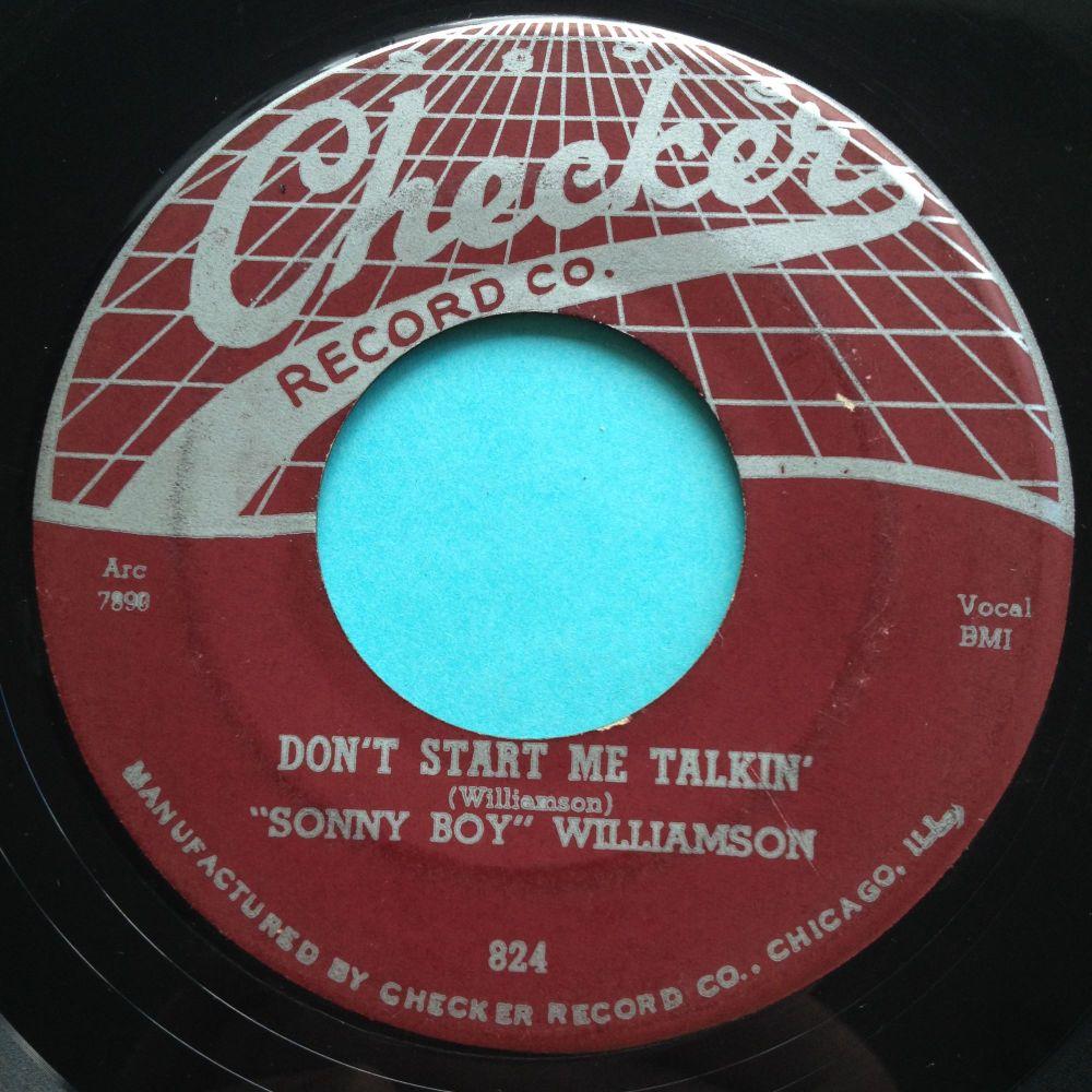 Sonny Boy Williamson - Don't start me talkin' - Checker - Ex-