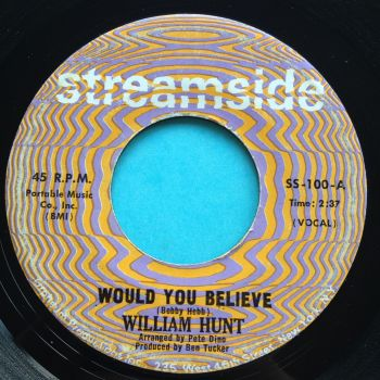 William Hunt - Would you believe - Streamside - VG+
