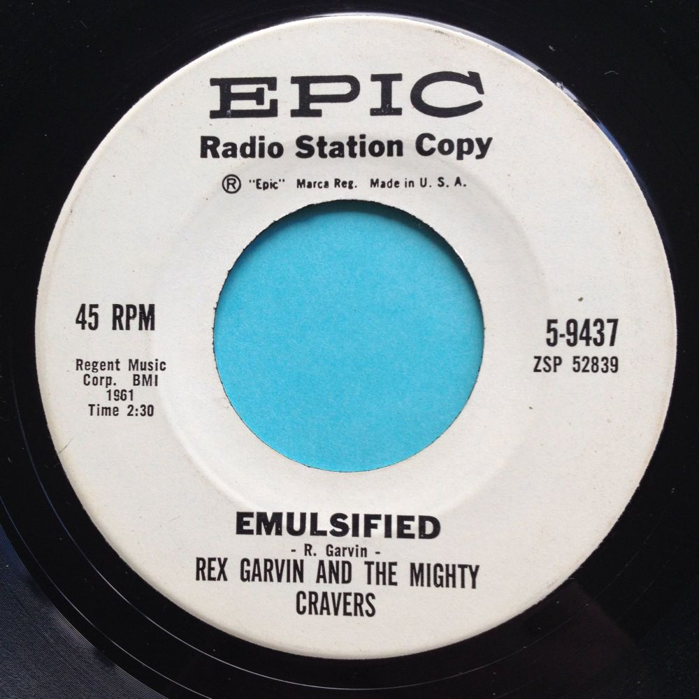 Rex Garvin & the Mighty Cravers - Emulsified - Epic promo - Ex