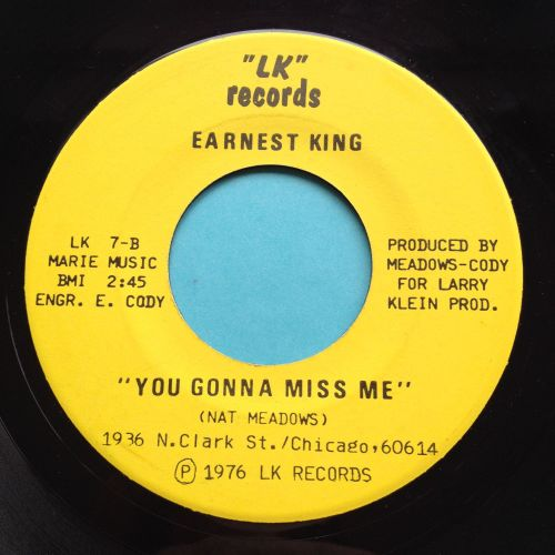 Earnest King - You gonna miss me - LK - Ex