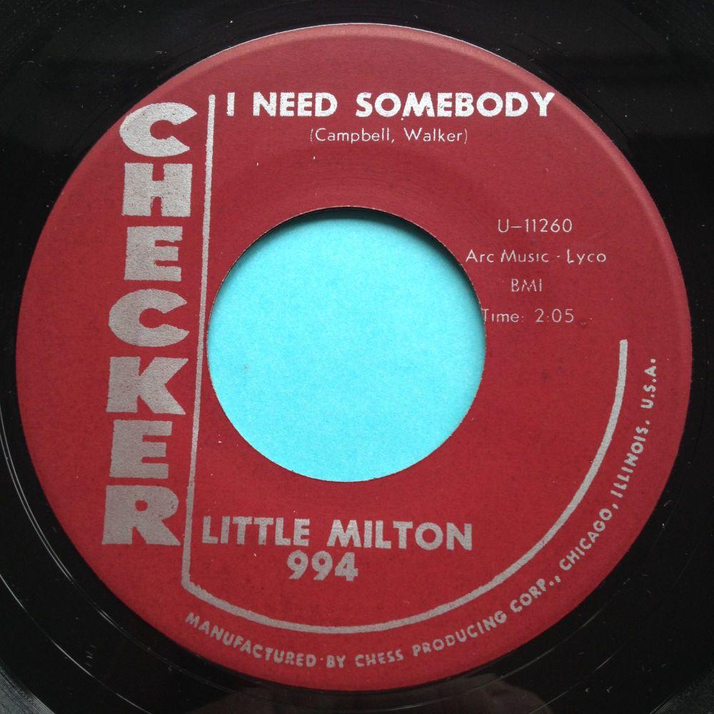Little Milton - I need somebody - Checker - Ex