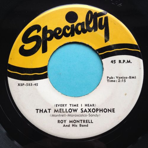 Roy Montrell - That mellow saxophone - Specialty - Ex