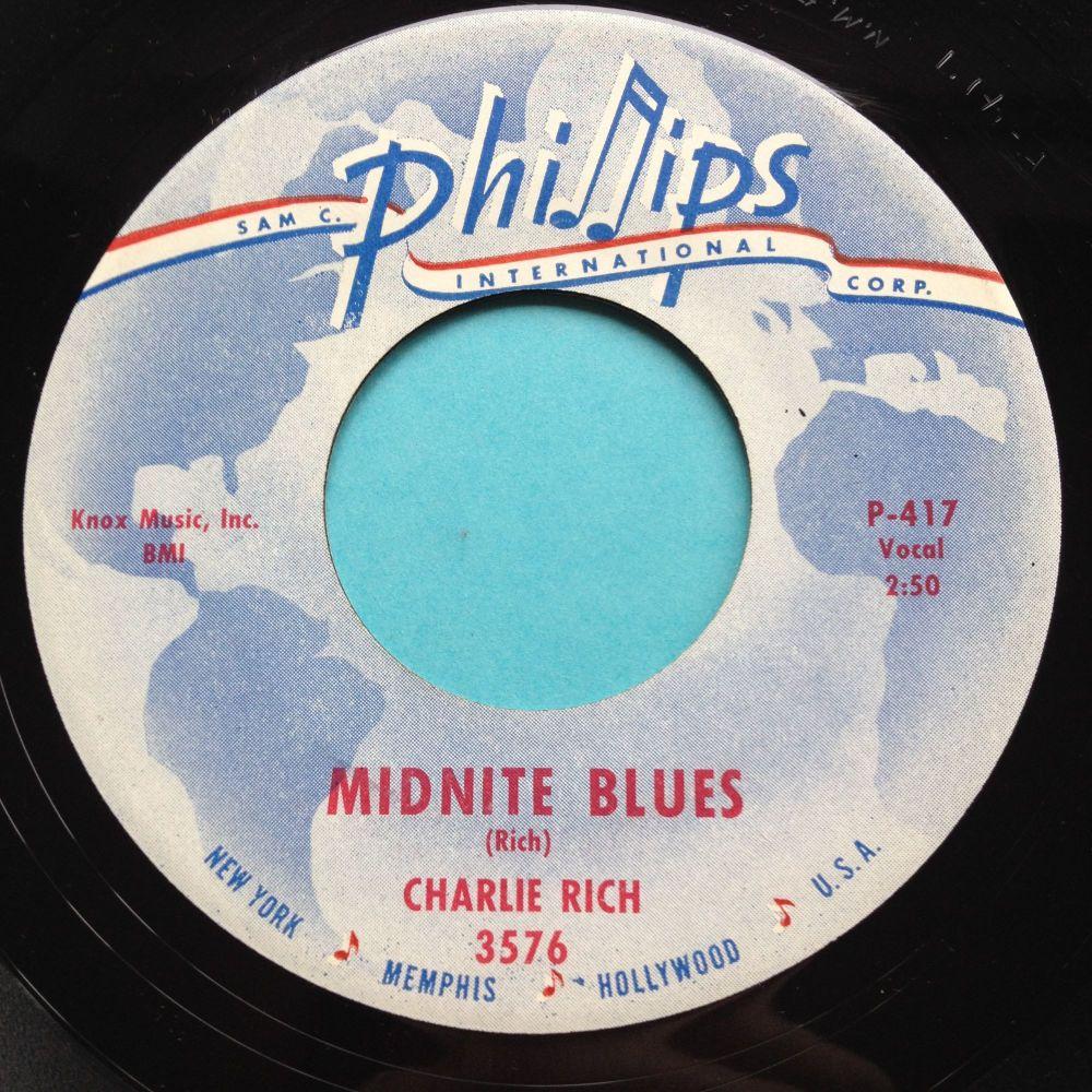 Charlie Rich - Midnite Blues - Phillips - Ex