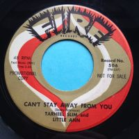 Tarheel Slim and Little ann - Can't stay away from you - Fire - Ex