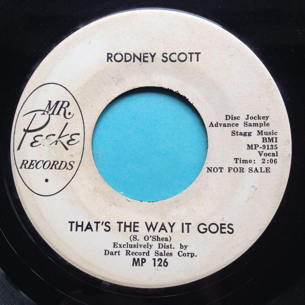 Rodney Scott - That's the way it goes - Mr. Peeke promo - VG+