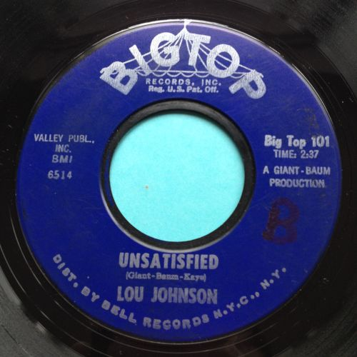 Lou Johnson - Unsatisfied - Big Top - Ex-