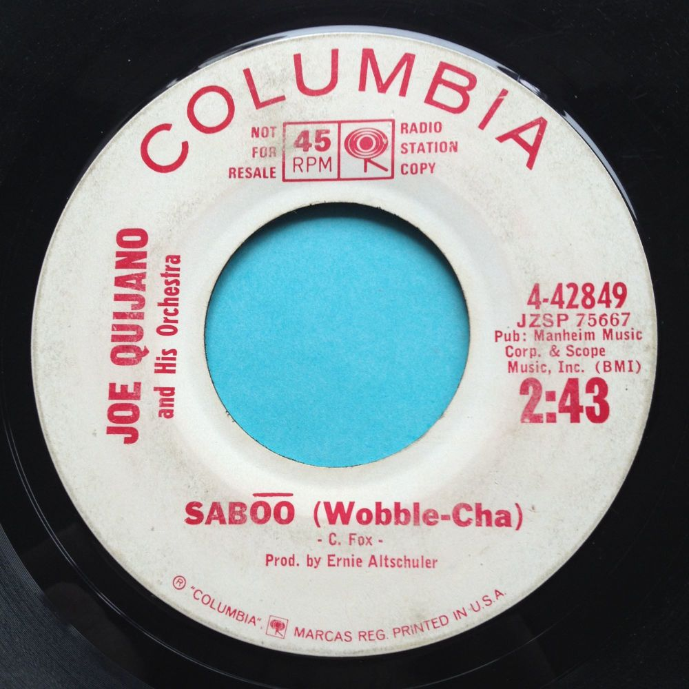 Joe Quijano - Saboo - Columbia promo - strong VG, plays VG+