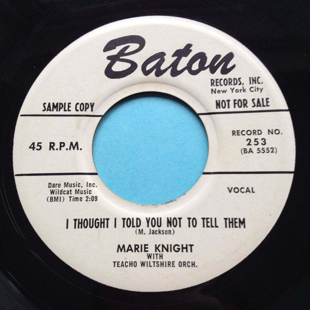 Marie Knight - I thought i told you not to tell them - Baton promo - Ex (sm