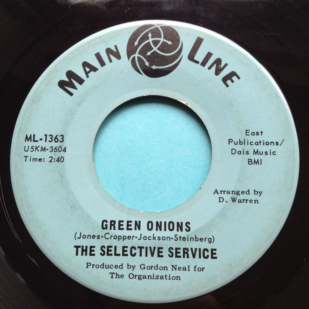 Selective Service - Green Onions - Main Line - VG+