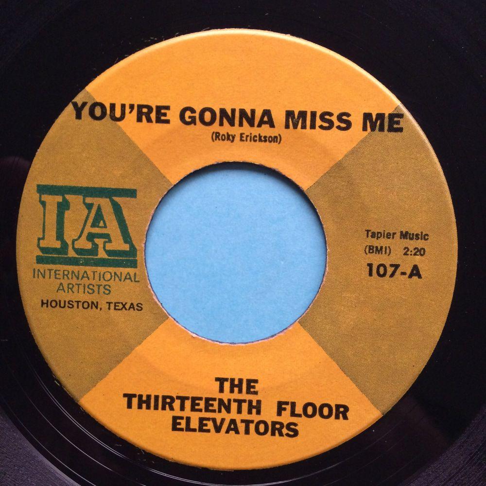 The Thirteenth Floor Elevators - You're gonna miss me - IA - Ex