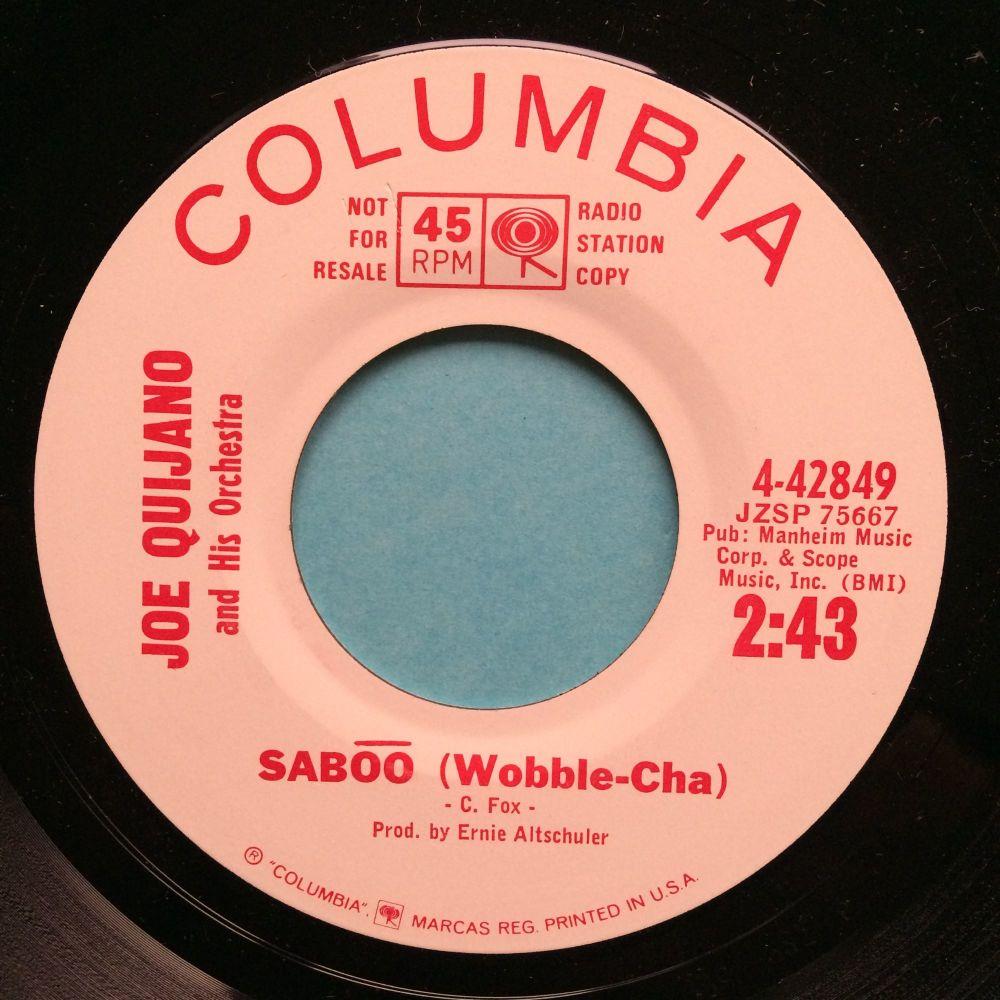 Joe Quijano & Orch - Saboo - Columbia promo - M-