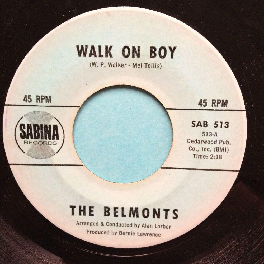 Belmonts - Walk on boy - Sabina - VG+