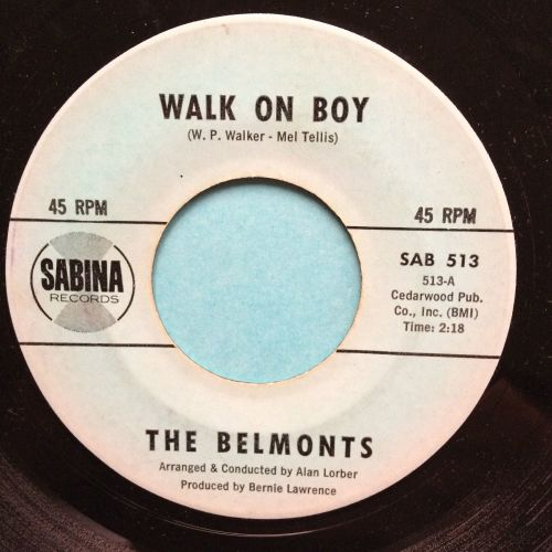 Belmonts - Walk on boy - Sabina - VG+