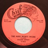 Lillian Offitt - The man won't work - Chief - VG+