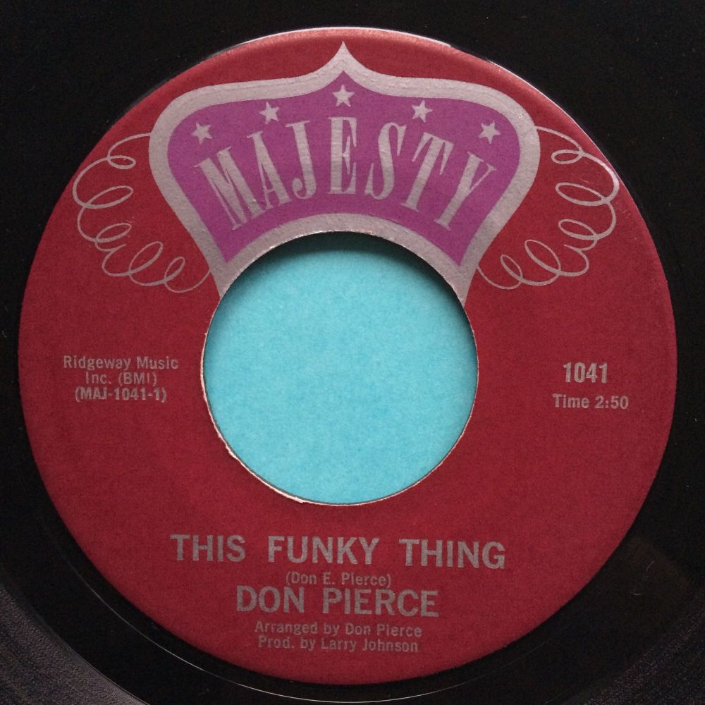Don Pierce - This funky thing b/w Spook-a-delic - Majesty - Ex