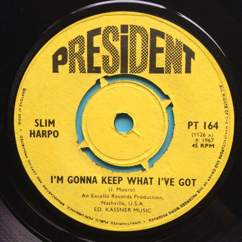 Slim Harpo - I'm gonna keep what I've got - UK President - VG+