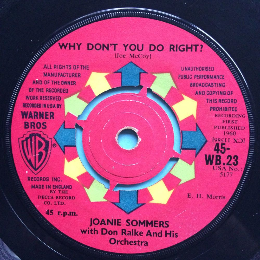 Joanie Sommers - Why don't you do right - UK WB - VG+