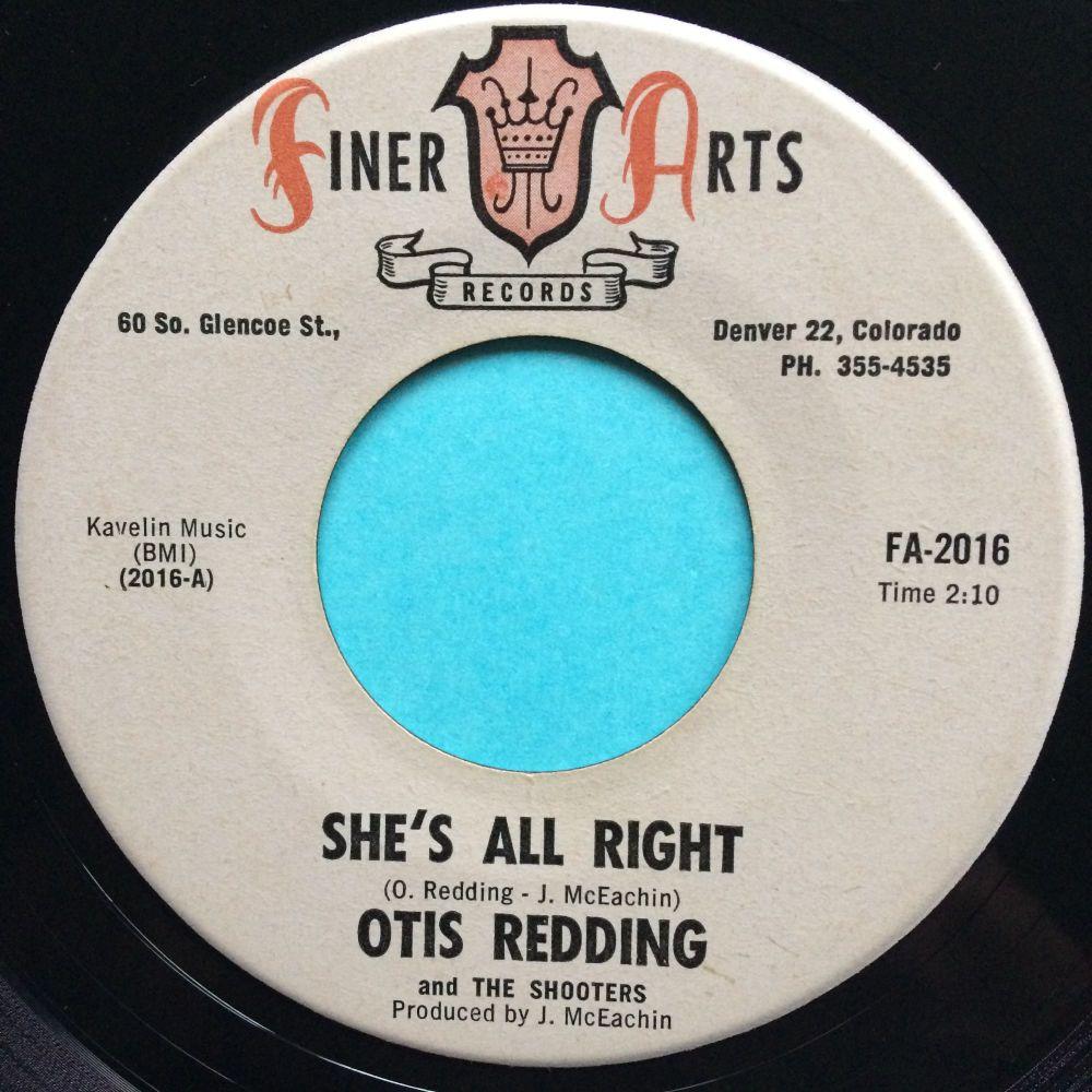 Otis Redding - She's all right - Finer Arts - Ex