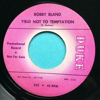 Bobby Bland - Yield not to temptation - Duke promo - Ex