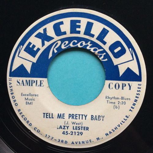 Lazy Lester - Tell me pretty baby - Excello promo - Ex- (label tear on flip