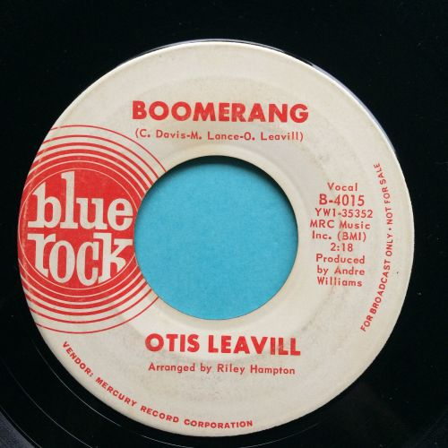 Otis Leavill - Boomerang - Blue Rock promo - VG+
