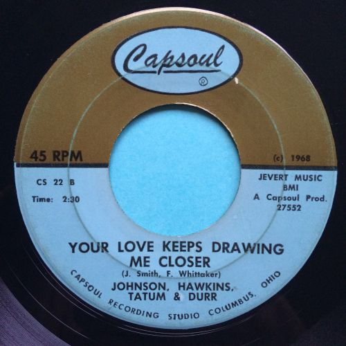 Johnson, Hawkins Tatum & Durr - You can't blame me b/w Your love keeps draw