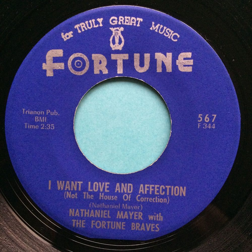Nathaniel Mayer - I want love and affection - Fortune - Ex