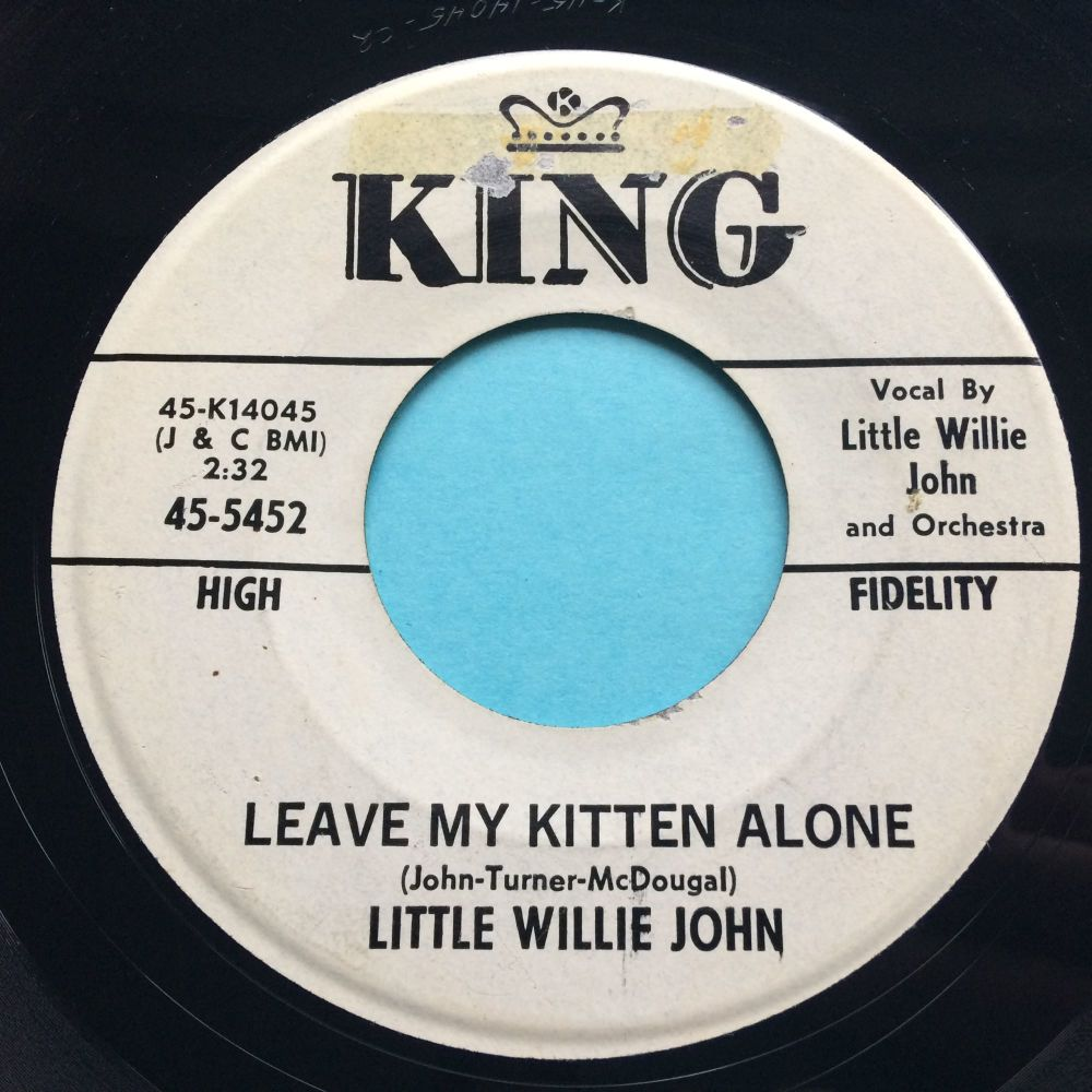 Little Willie John - Leave my kitten alone - King promo - Ex- (stkr residue