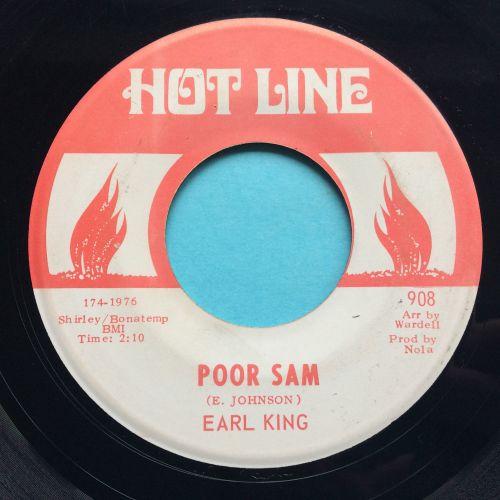 Earl King - Poor Sam b/w Feeling my way around - Hot Line - Ex-