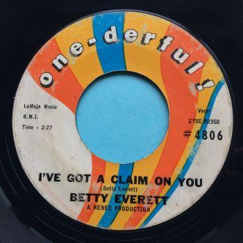 Betty Everett - I've got a claim on you - One-derful - VG+