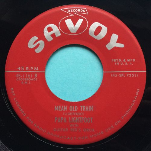 Papa Lightfoot with Guitar Red's Orch. - Mean old train - Savoy - Ex