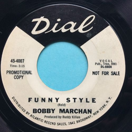 Bobby Marchan - Funny Style - Dial promo - VG+