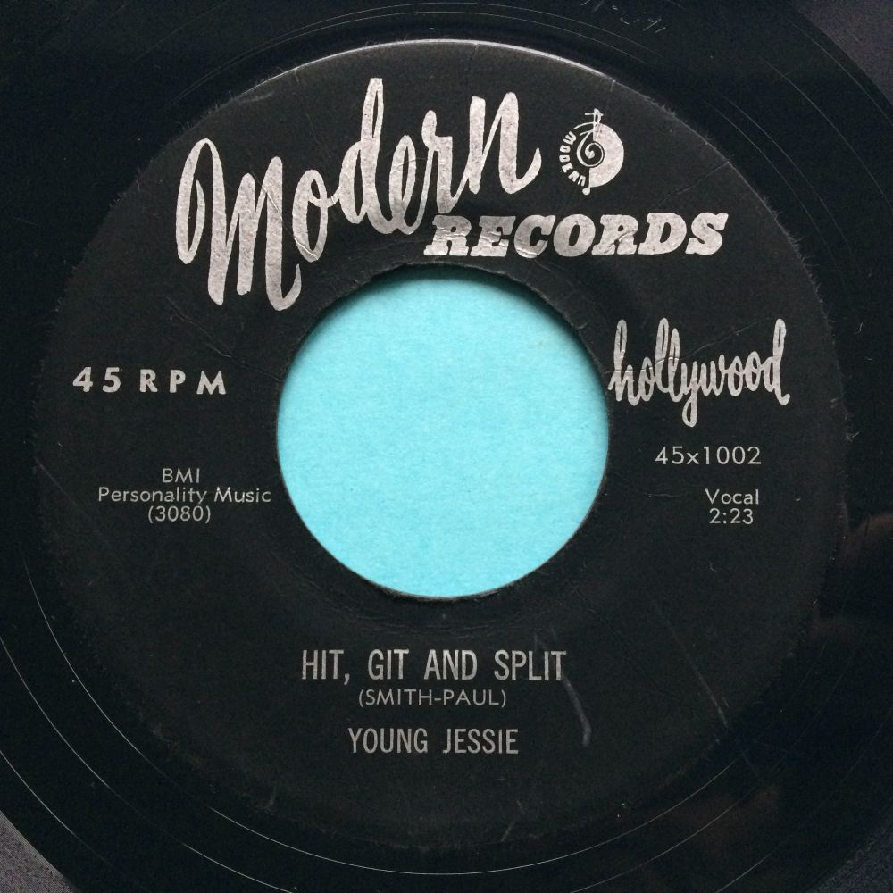 Young Jessie - Hit, git and split b/w Don't happen no more - Modern - Ex-