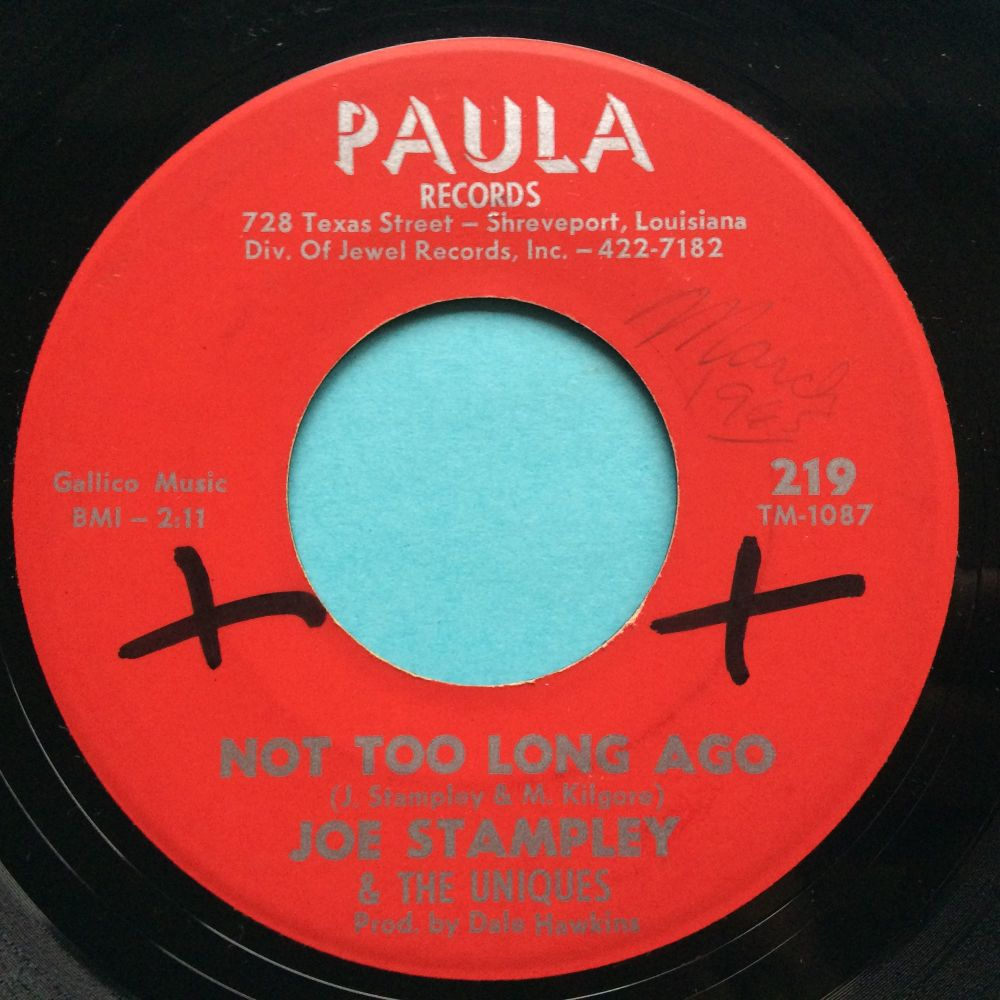 Joe Stampley & The Uniques - Not too long ago - Paula - Ex (xol)