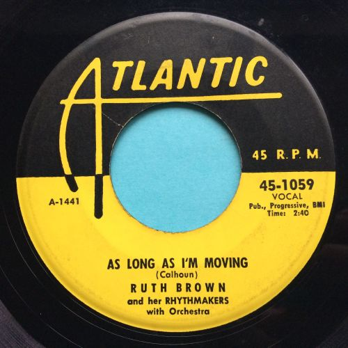 Ruth Brown - As long as I'm moving - Atlantic - VG+