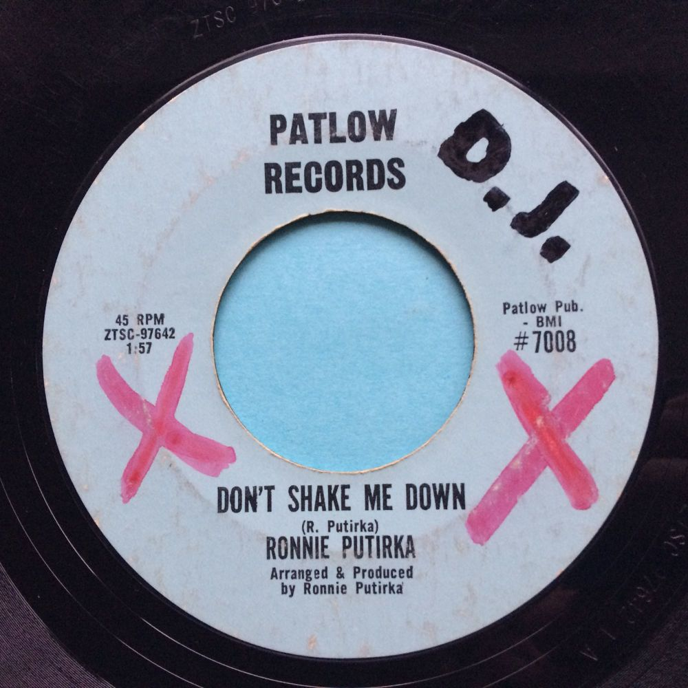 Ronnie Putirka - Don't shake me down - Patlow - VG+