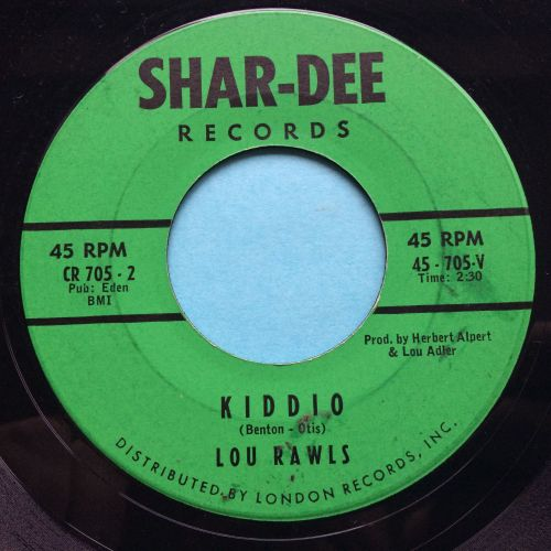 Lou Rawls - Kiddio - Shar-Dee - Ex-