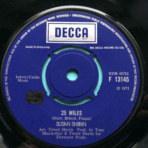 Susan Shrifrin - 25 miles - UK Decca - Ex