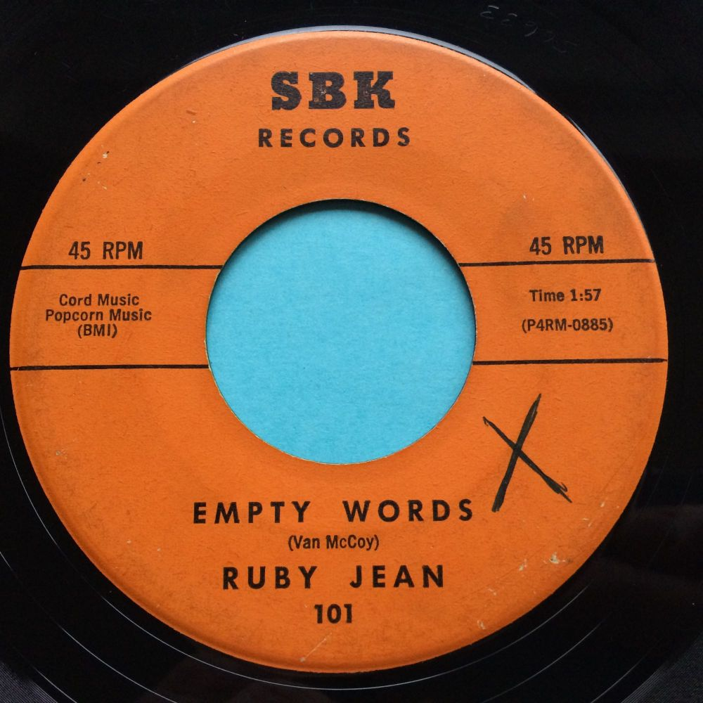 Ruby Jean - Empty words - SBK - VG (plays VG+)