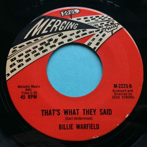 Billie Warfield - That's what they said - Merging - Ex-