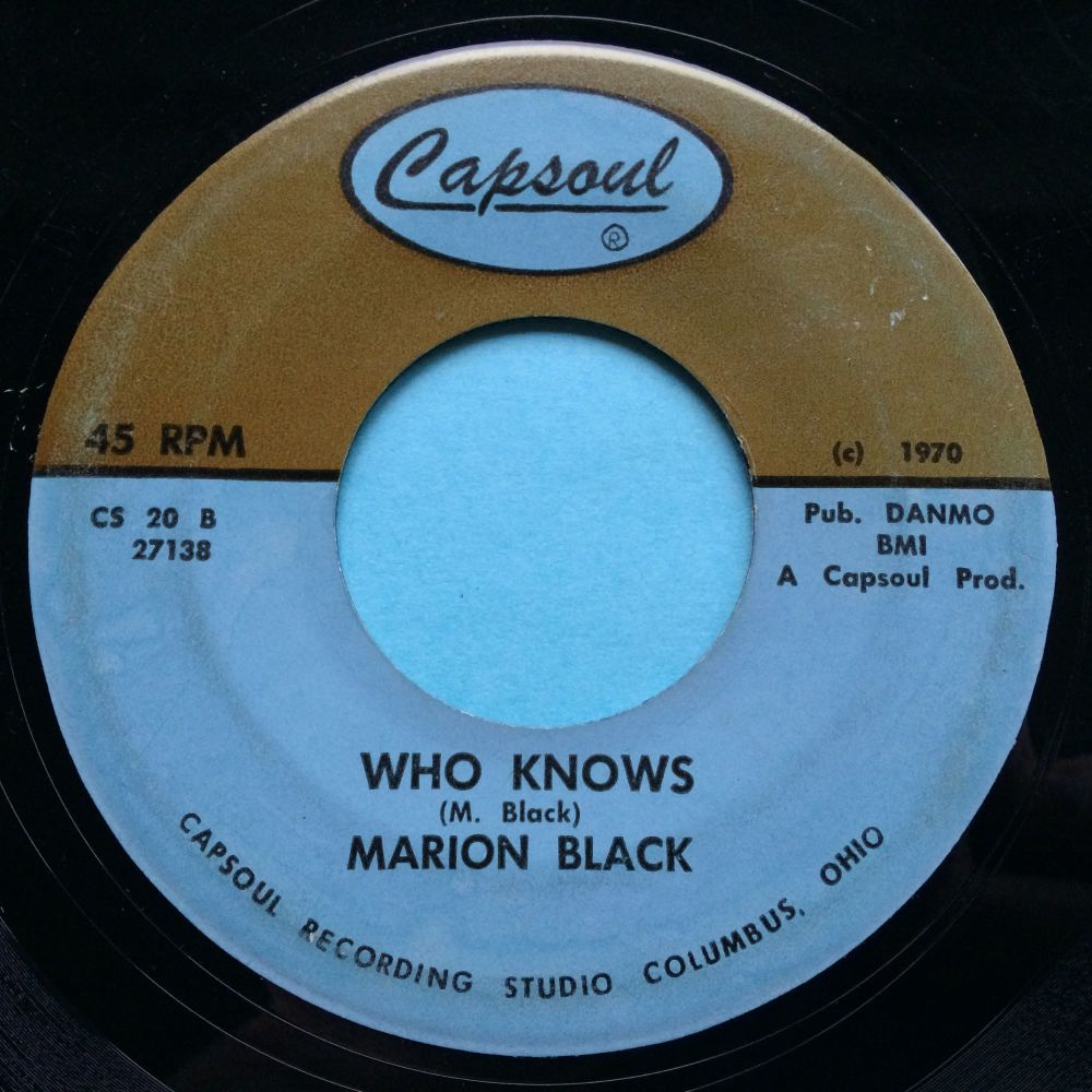 Marion Black - Who knows - Capsoul - VG+