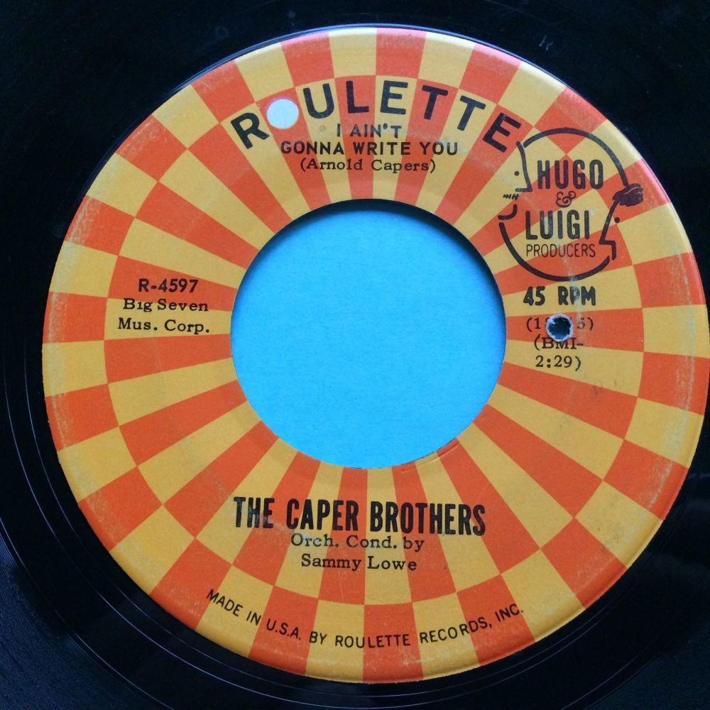 Caper Brothers - I ain't gonna write you - Roulette - VG+