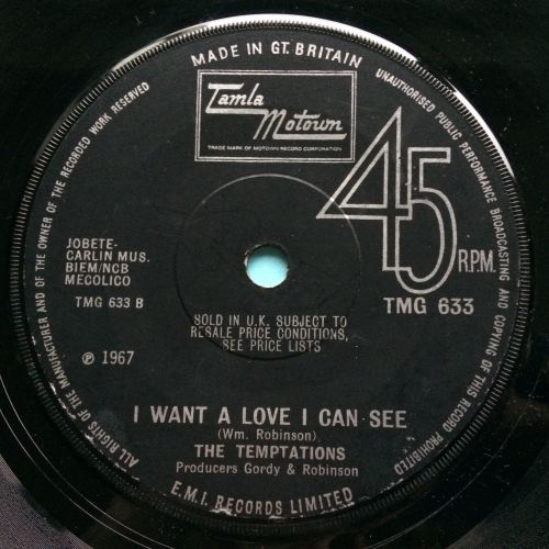 Temptations - I want a love I can see - UK Tamla Motown - VG+