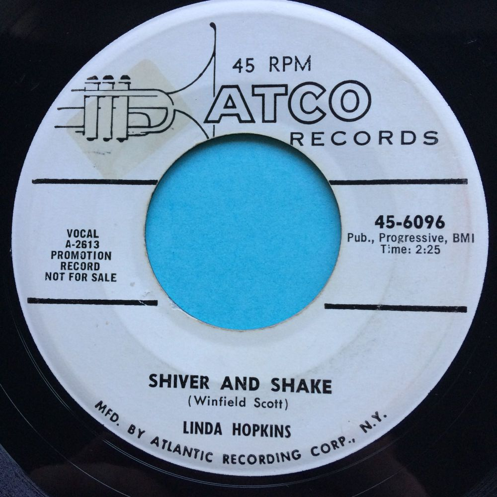 Linda Hopkins - Shiver and shake b/w Rock and Roll blues - Atco promo - Ex-