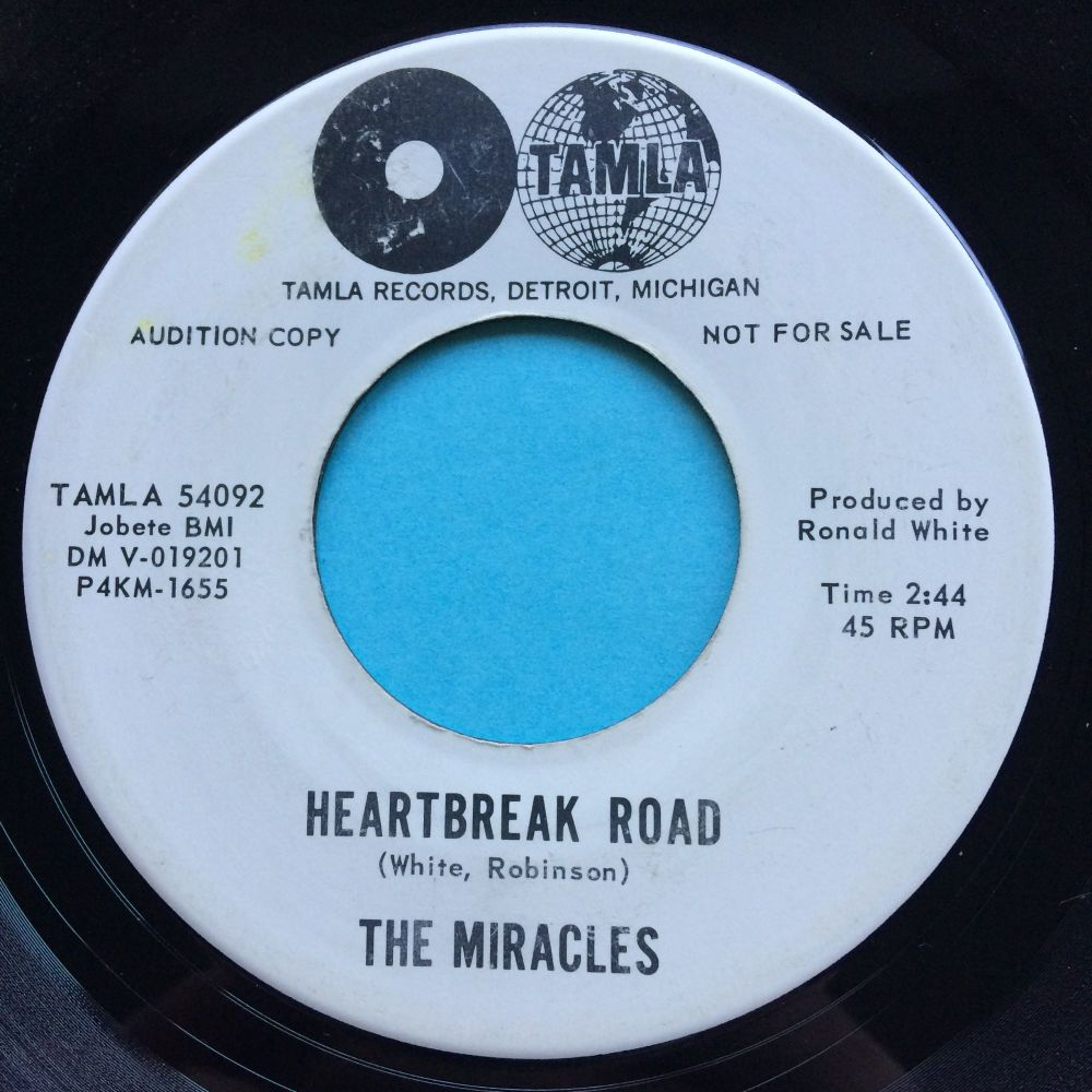 Miracles - Heartbreak Road b/w The man in you - Tamla promo - Ex