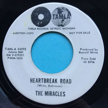 Miracles - Heartbreak Road b/w The man in you - Tamla promo - Ex