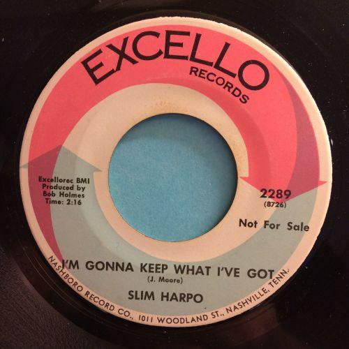 Slim Harpo - I'm gonna keep what I've got - Excello PROMO - Ex